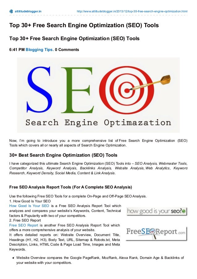 Search Engine Optimization Tools | 10 Best SEO