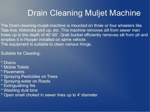 Sewer Jetting Machine - 웹