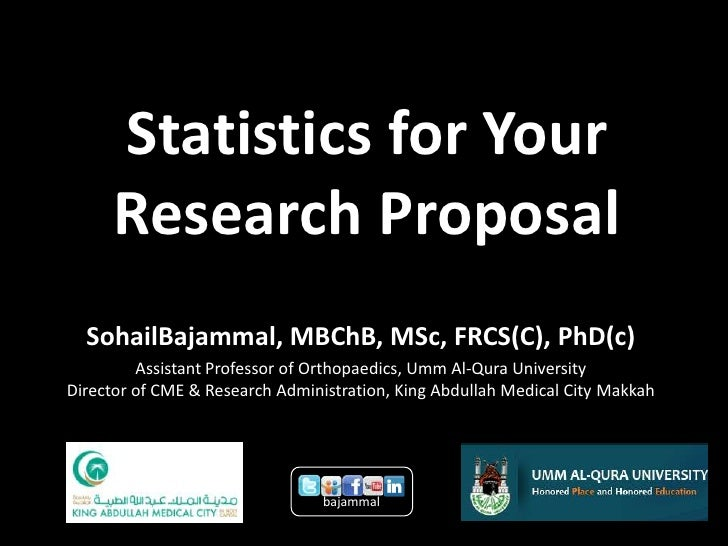 statistics thesis proposal Writing a research proposal  lunenburg, frederick c writing a successful thesis or dissertation:  if you are using statistics, why is this set of data being.