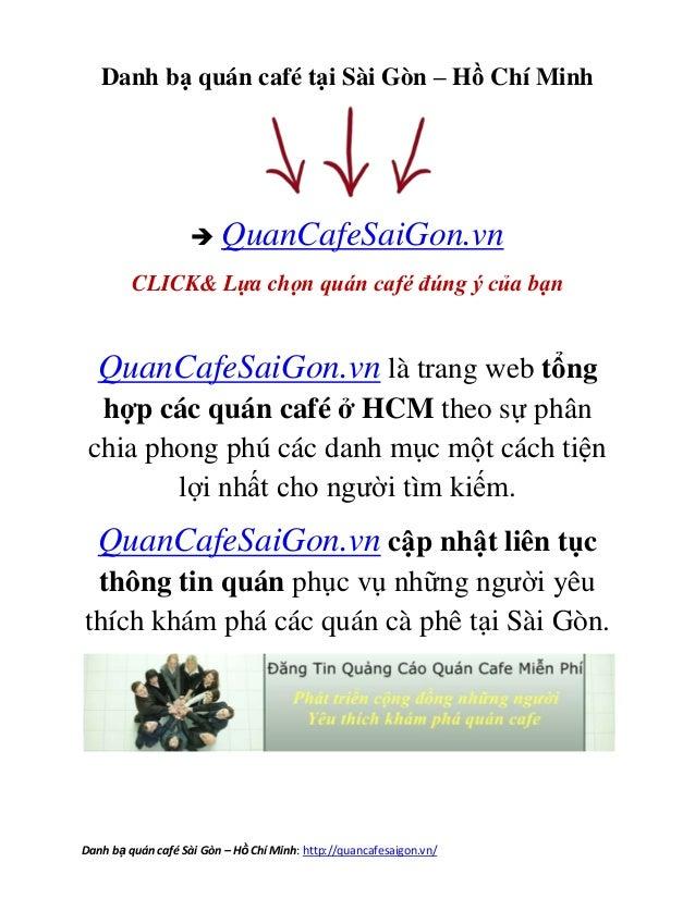 Ở đâu quán cafe - cà phê Quận Bình Thạnh – Danh sách quán caphe Mới lạ Hồ Chí Minh 2013.Danh bạ quán café Sài Gòn – HồChí ...