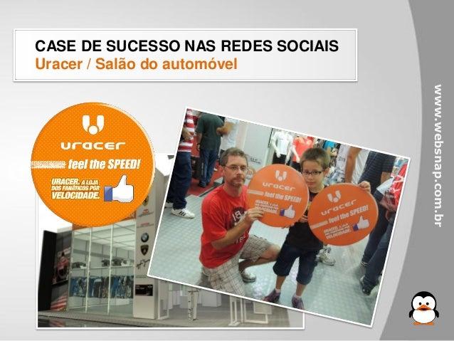 CASE DE SUCESSO NAS REDES SOCIAISUracer / Salão do automóvel                                    www.websnap.com.br
