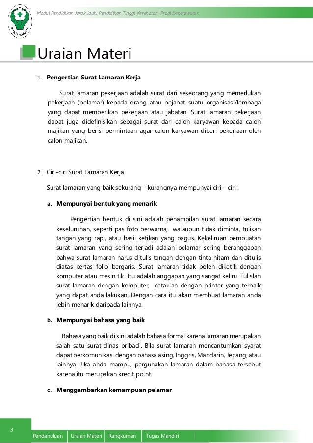 Pembuatan Surat Lamaran Kerja