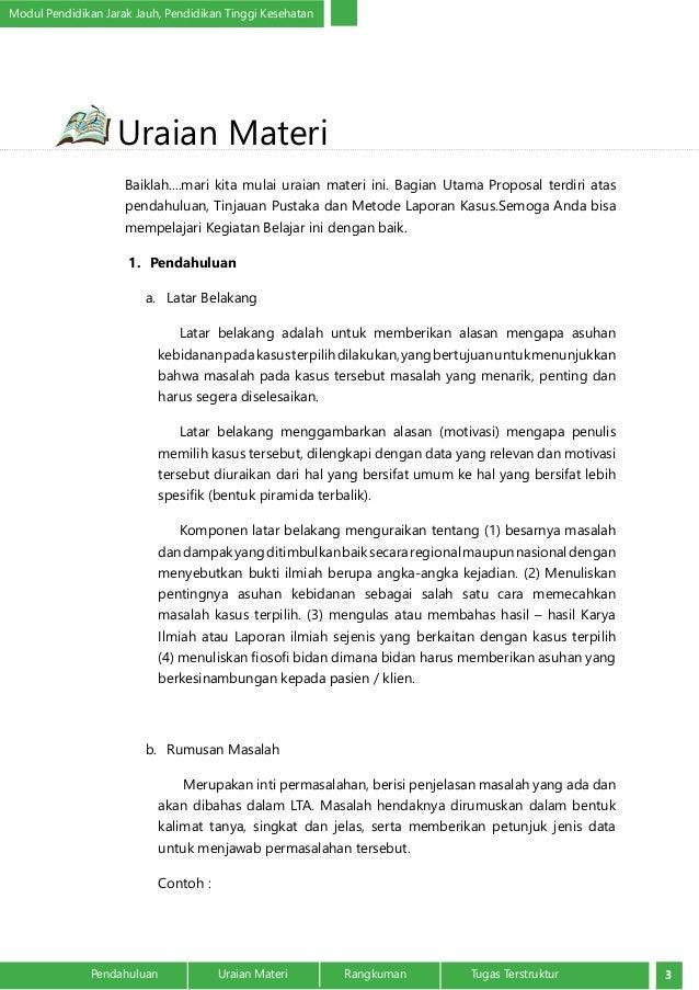 Bagian Utama Proposal Laporan Tugas Akhir