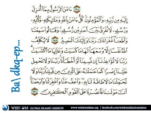 Badkq-ep… WISD M www.wisdomislam.org | facebook.com/wisdomislamicmissionGLOBAL ISLAMIC MISSION
