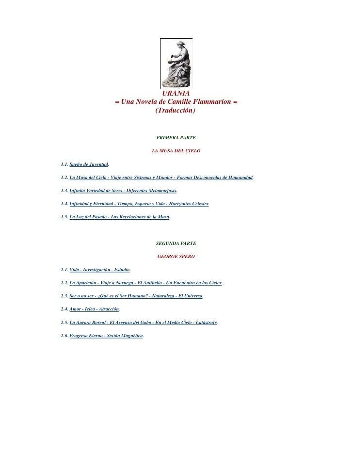 URANIA                            = Una Novela de Camille Flammarion =                                        (Traducción)...