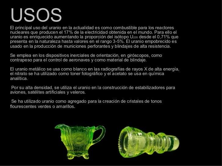 Uranio for Marmol caracteristicas y usos
