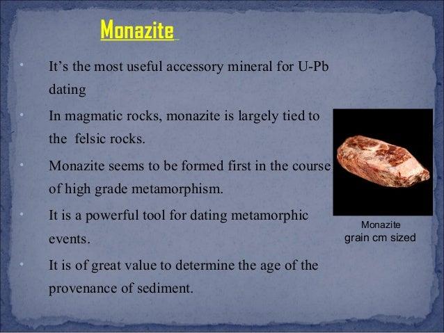 Monazite age dating