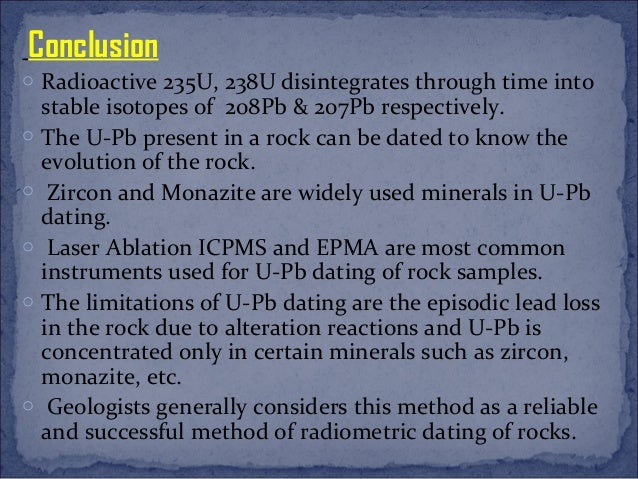 Uranium dating limitations
