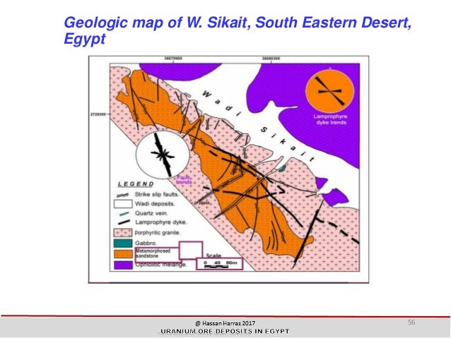 URANIUM ORE DEPOSITS IN EGYPT - Groundwater prospect map of egypt's qena valley
