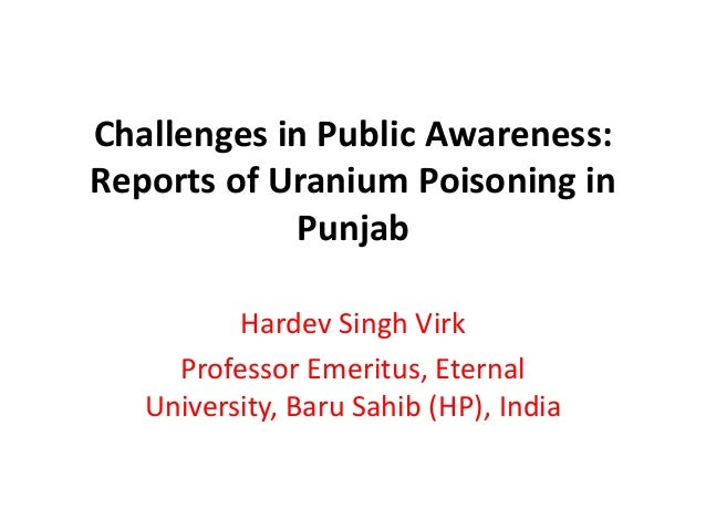 traces of uranium in punjab Read more about 'traces of uranium found in underground water in punjab' on business standard traces of uranium and other radio-active, heavy metals have been found in the underground water in punjab, the government has said.