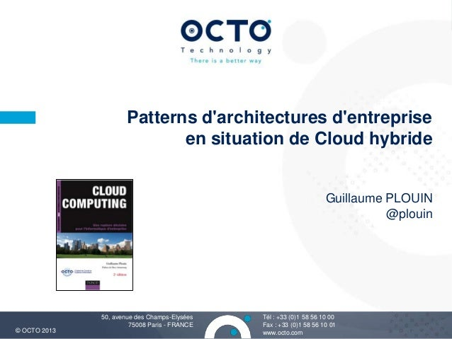 Patterns darchitectures dentreprise                             en situation de Cloud hybride                             ...