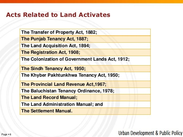 PUNJAB LAND REVENUE ACT 1887 PDF
