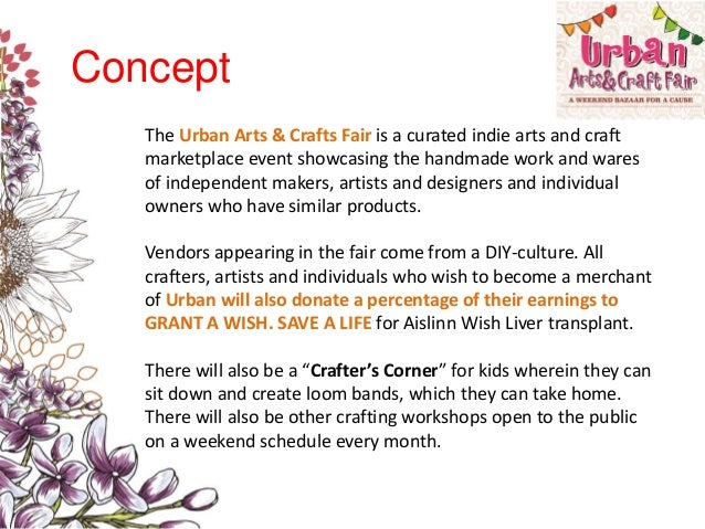 Urban Arts  Craft Fair Sample Proposal