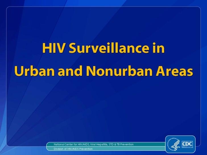 Urban and Nonurban Areas - HIV
