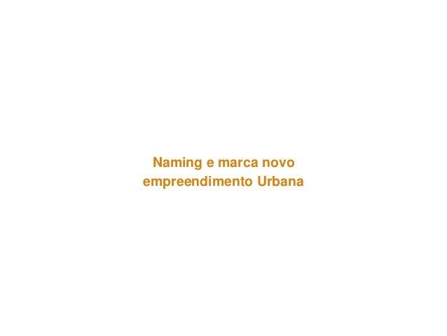 Naming e marca novo  empreendimento Urbana