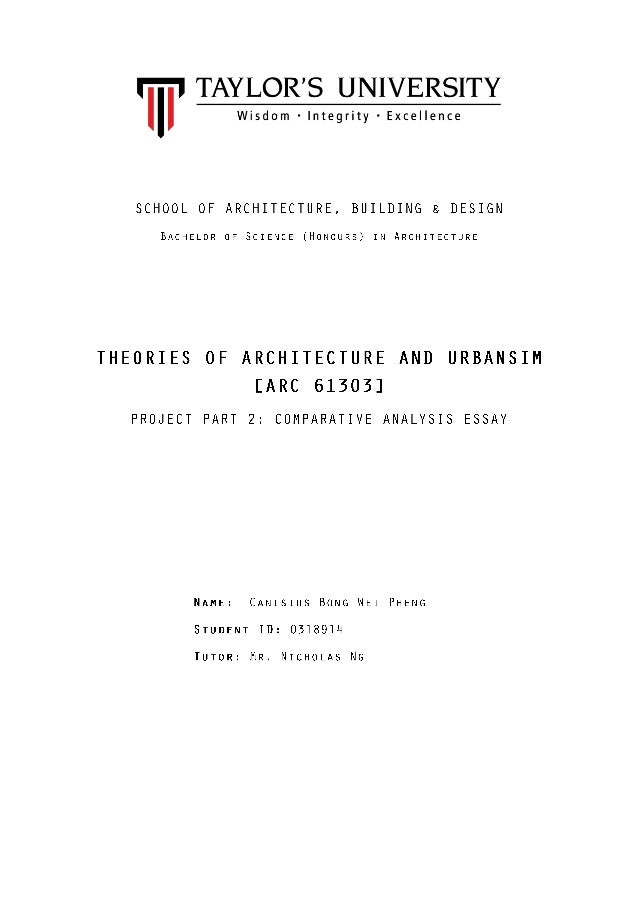 urban comparative essays project part 2 comparative analysis essay arc 61303 theories of architecture and urbanism