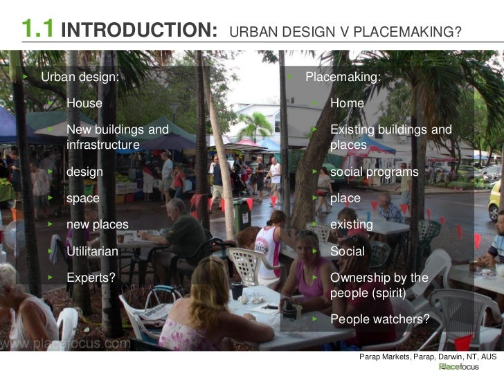 Urban Design Placemaking 101 Section 1 Intro To Urban Design And