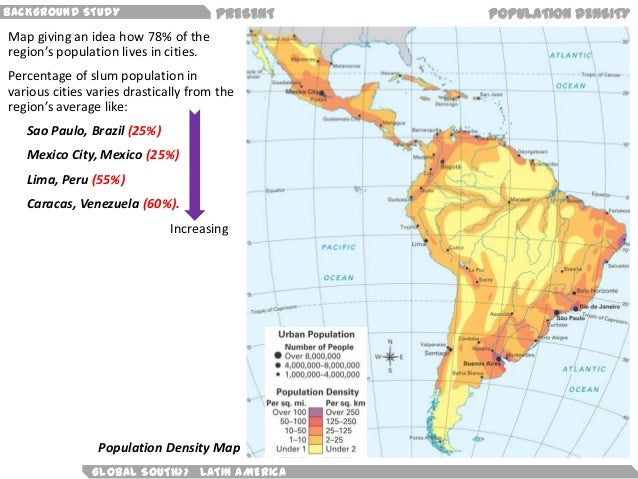 Latin America Population Density Map America Map - South american population map