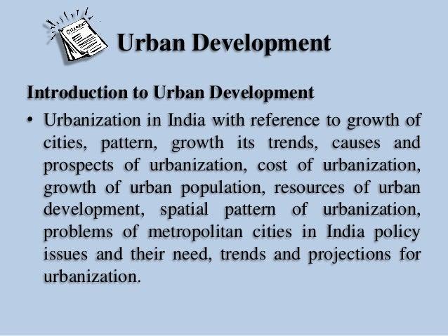 Urban Development Slide 2