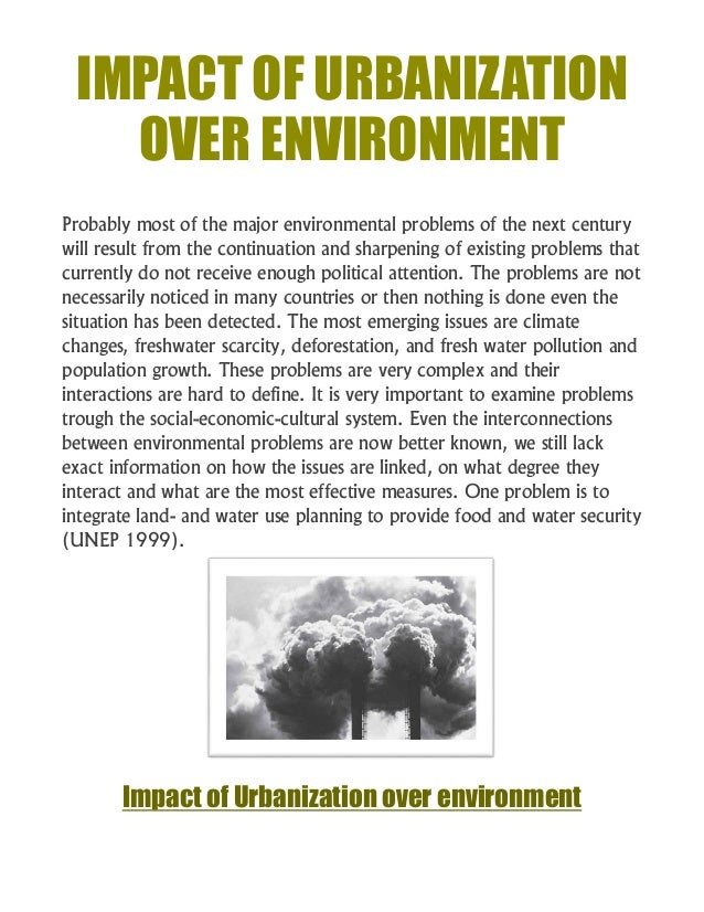 Effects of development on environment essays