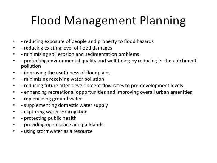 5 causes of floods