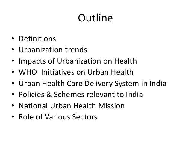Urbanisation and its effect on people's health