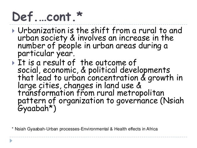 The solutions for urbanization problems