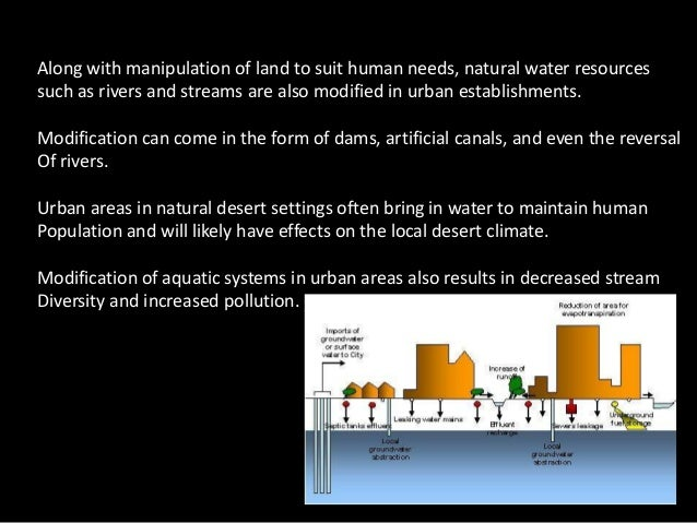 IMPACT OF BIOGEOCHEMICAL PATHWAYS IN THE URBAN LANDSCAPE Urbanization results in a large demand for chemical use by indust...