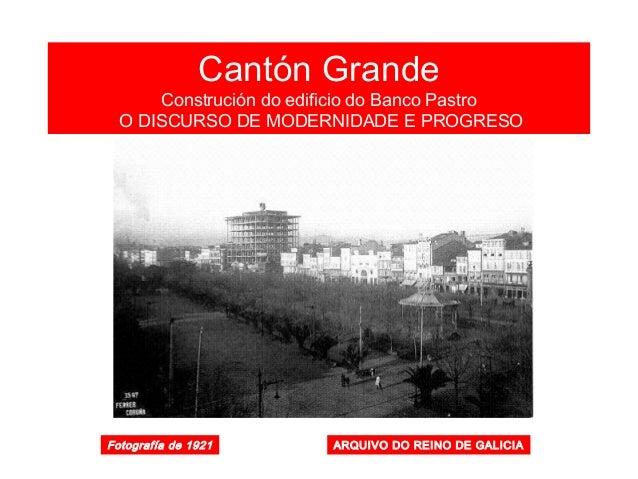 Cantón Grande 1956 FOTO BLANCO. La Coruña entre siglos
