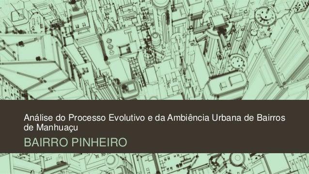 Análise do Processo Evolutivo e da Ambiência Urbana de Bairros de Manhuaçu BAIRRO PINHEIRO
