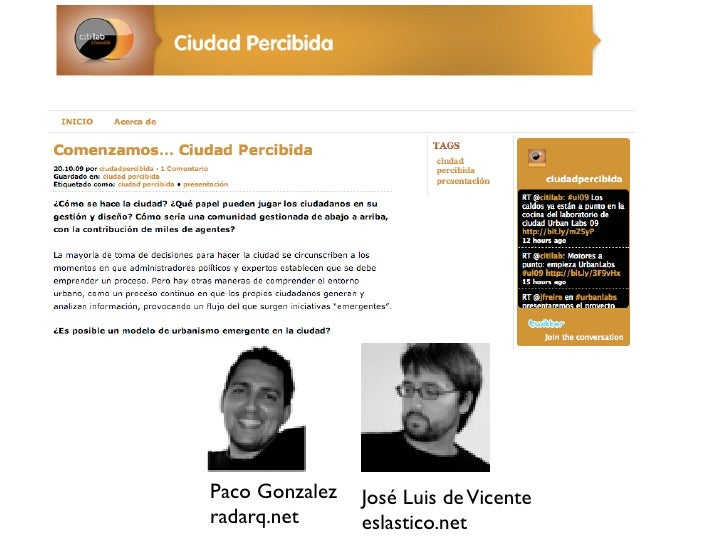 Paco Gonzalez   José Luis de Vicente radarq.net      eslastico.net