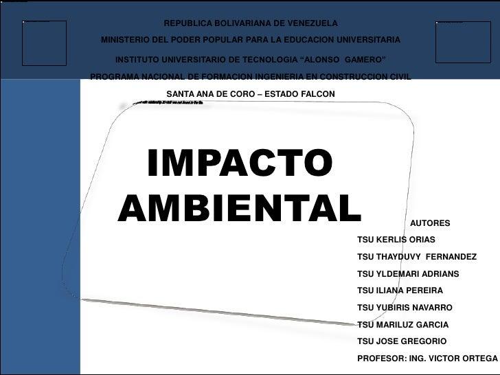 REPUBLICA BOLIVARIANA DE VENEZUELA  MINISTERIO DEL PODER POPULAR PARA LA EDUCACION UNIVERSITARIA    INSTITUTO UNIVERSITARI...