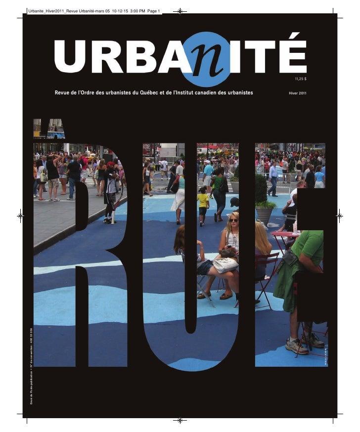 11,25 $                                                             Revue de l'Ordre des urbanistes du Québec et de l'Inst...