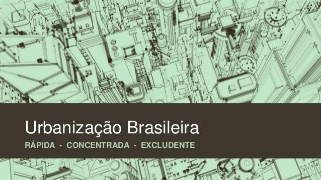 urbaniza u00e7 u00e3o brasileira