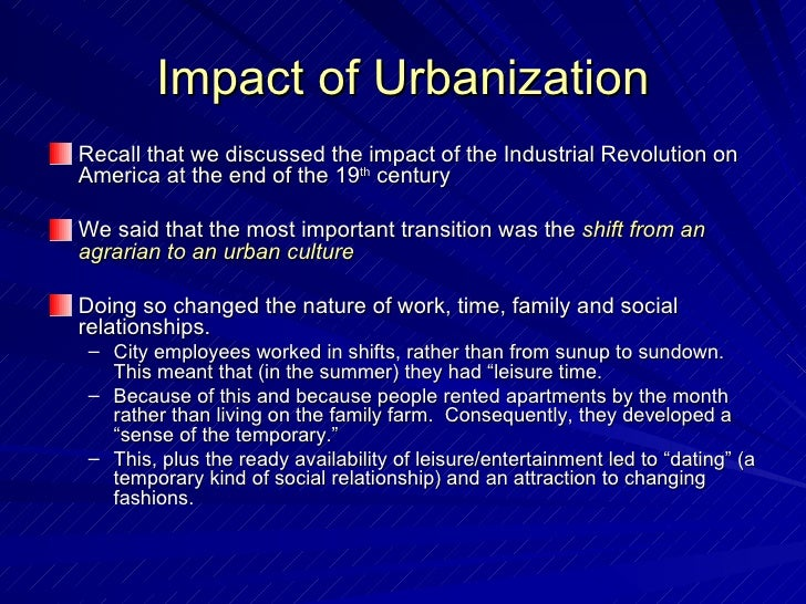 essay on urbanization Urbanization is a big part of the modern world, without it, we would all be lost while countries are growing at a rapid rate, the once 'old' cities of the past are expanding onto previously un-occupied lands and even sometimes creating new towns and cities.