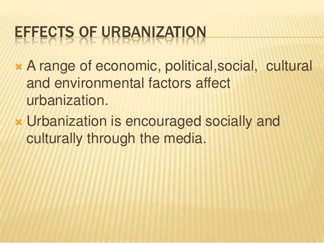 Essay on urbanisation