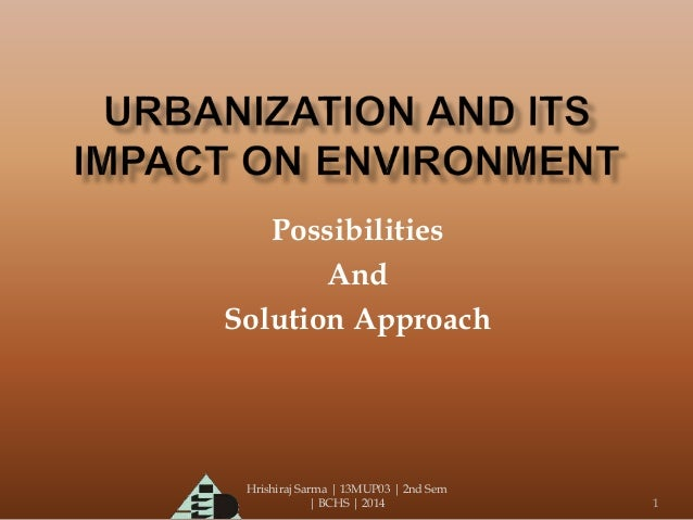 urbanization and its effects