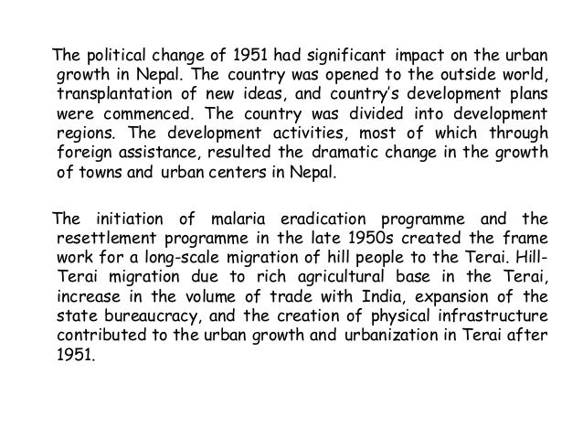 urbanization in final 10