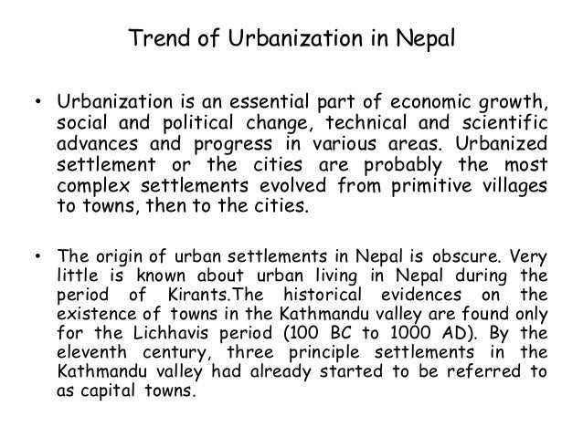 urbanization in final 8 trend of urbanization