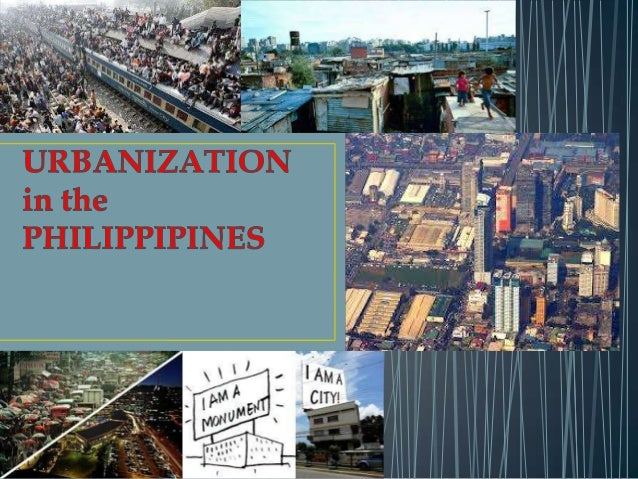 • Urbanization is the migration or natural influx of a segment of population from rural areas to urban centers. Simply put...