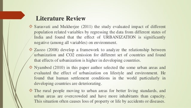 literature review environmental The writing center literature reviews what this handout is about this handout will explain what a literature review is and offer insights into the form and.