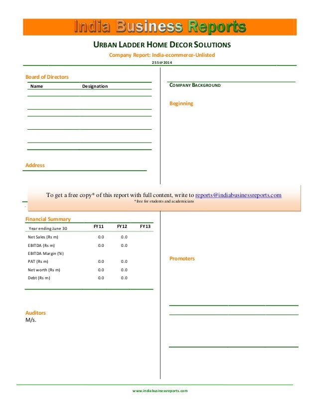 Urban Ladder Home Decor Solutions Pvt Ltd