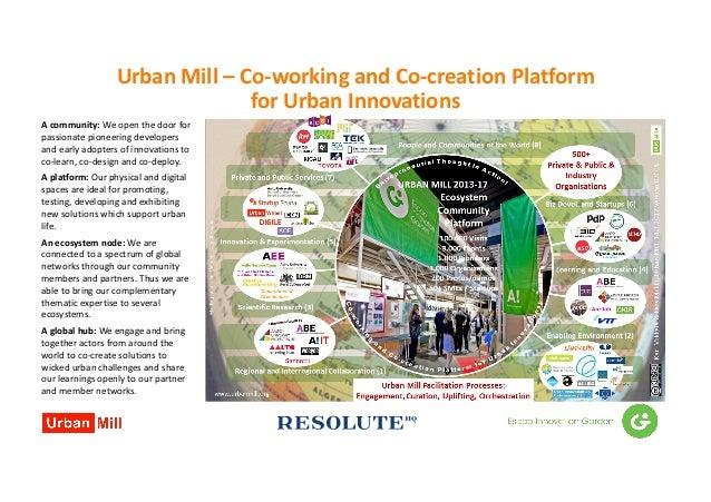 UrbanMill– Co-workingandCo-creationPlatform forUrbanInnovations Acommunity:Weopenthedoorfor passionatepione...