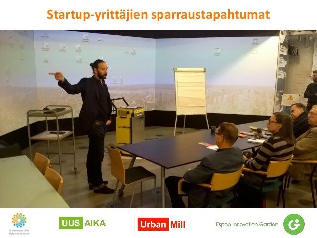 Startup-yrittäjien sparraustapahtumat