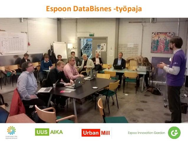 Espoon DataBisnes -työpaja