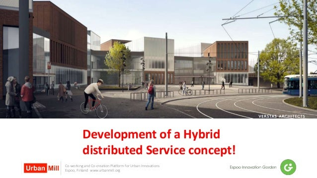 Co-working and Co-creation Platform for Urban Innovations Espoo, Finland www.urbanmill.org Development of a Hybrid distrib...