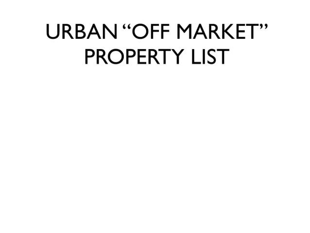 """How To Find """"Off Market"""" Property in Seattle"""