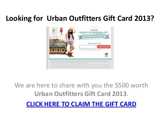 urban outfitters gift card urban outfitters gift card 2013 3490
