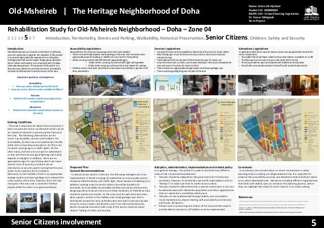 Rehabilitation Study for Old-Msheireb Neighborhood – Doha – Zone 04 Introduction, Territoriality, Streets and Parking, Wal...