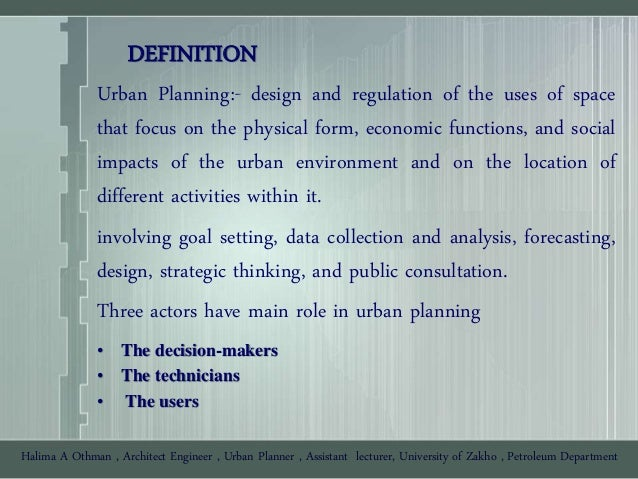 Urban planning presentation 01